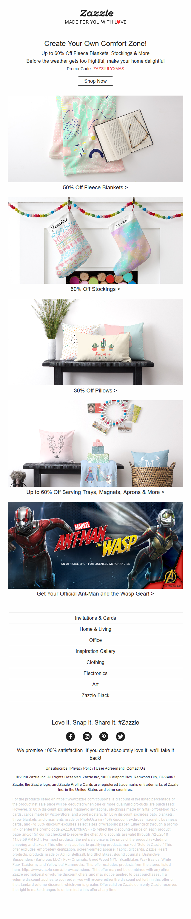 Up to 60% Off Warm Nooks & Customized Look