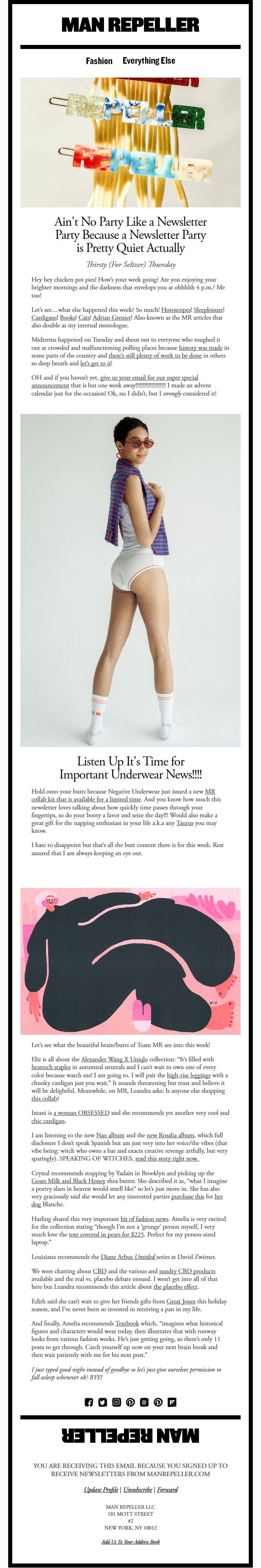 Ain't No Party Like a Newsletter Party Because a Newsletter Party is Pretty Quiet Actually