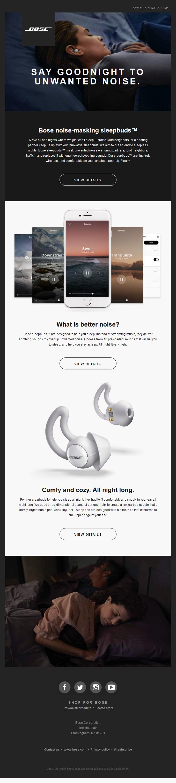 Better Sleep + Bose | Noise-masking Sleepbuds