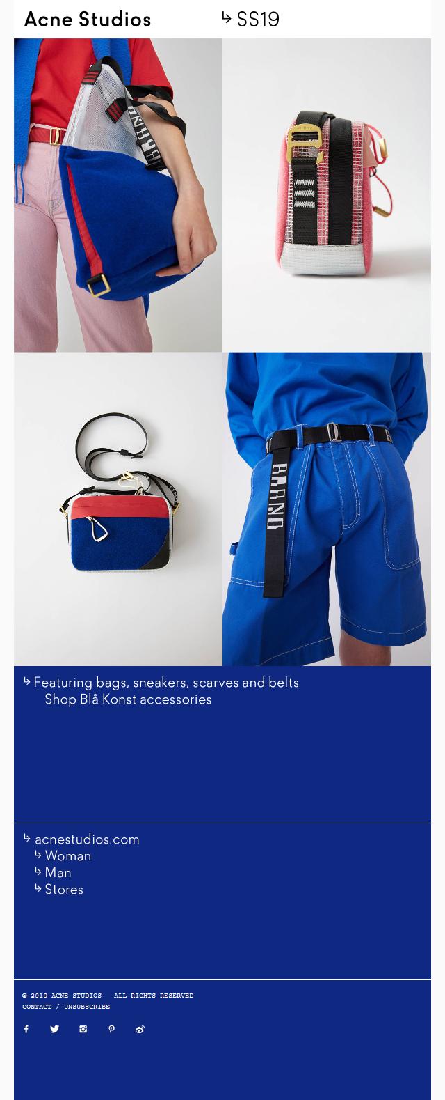 Blå Konst SS19 accessories