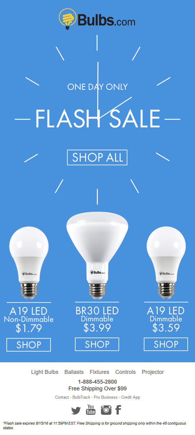 Bulbs - FLASH SALE On These LED Bulbs TODAY ONLY