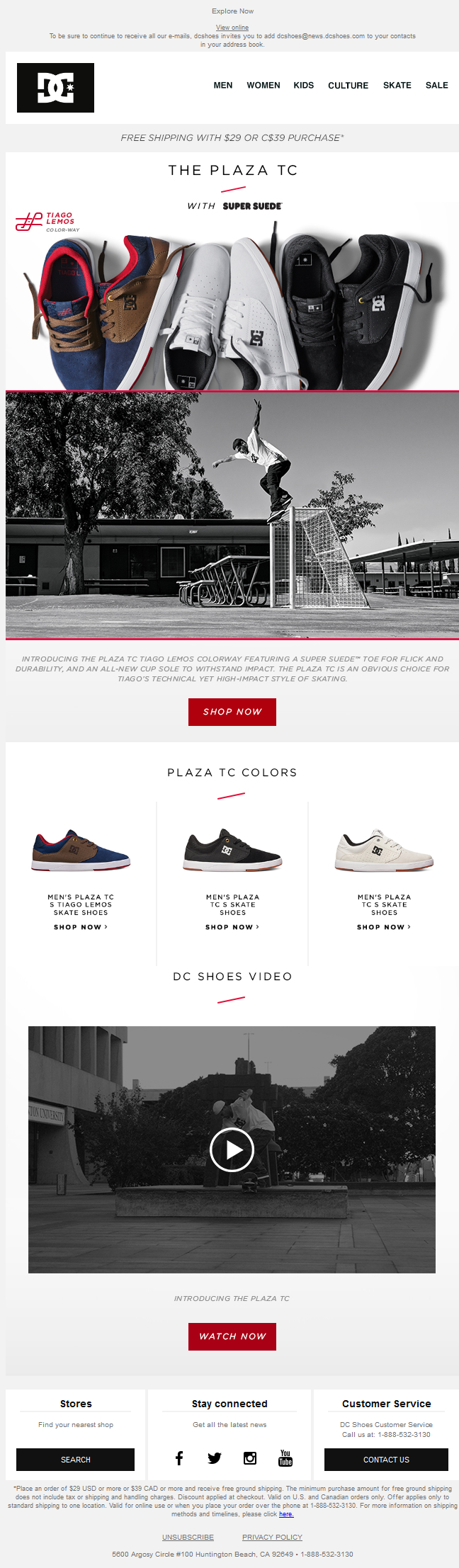 DC Shoes - Introducing the Plaza TC in Tiago Lemos' Signature Color