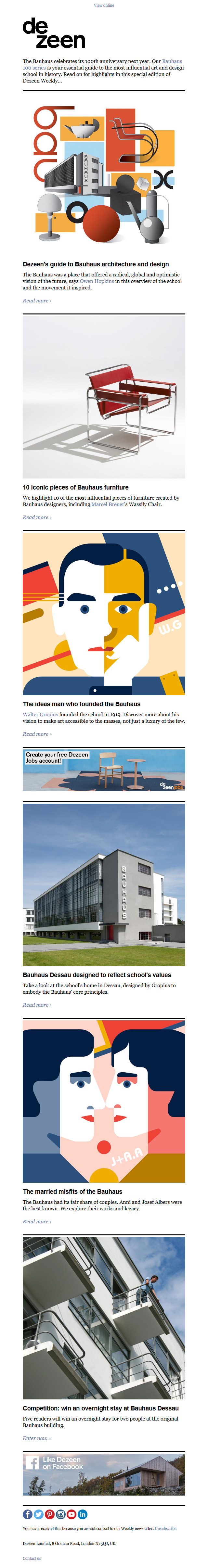 Dezeen's guide to Bauhaus architecture and design