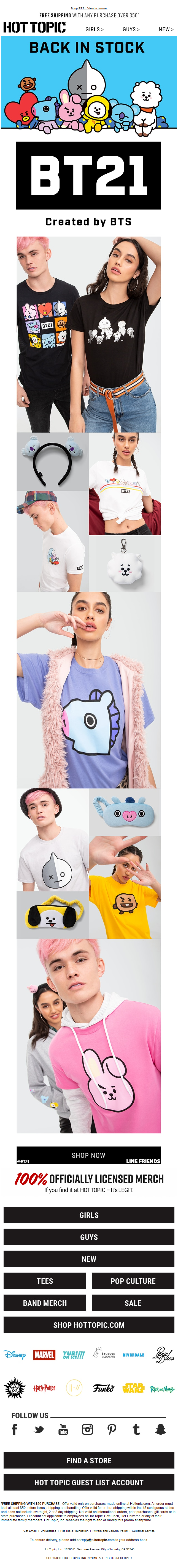 Drop everything: BT21 is back in stock.