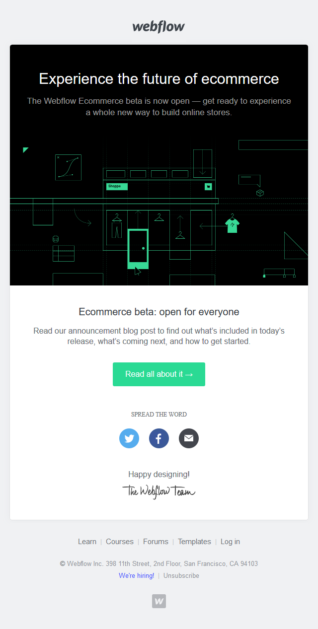 Ecommerce is now in public beta — for everyone