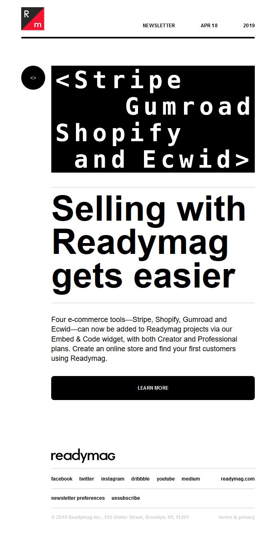 Embed e-commerce widgets