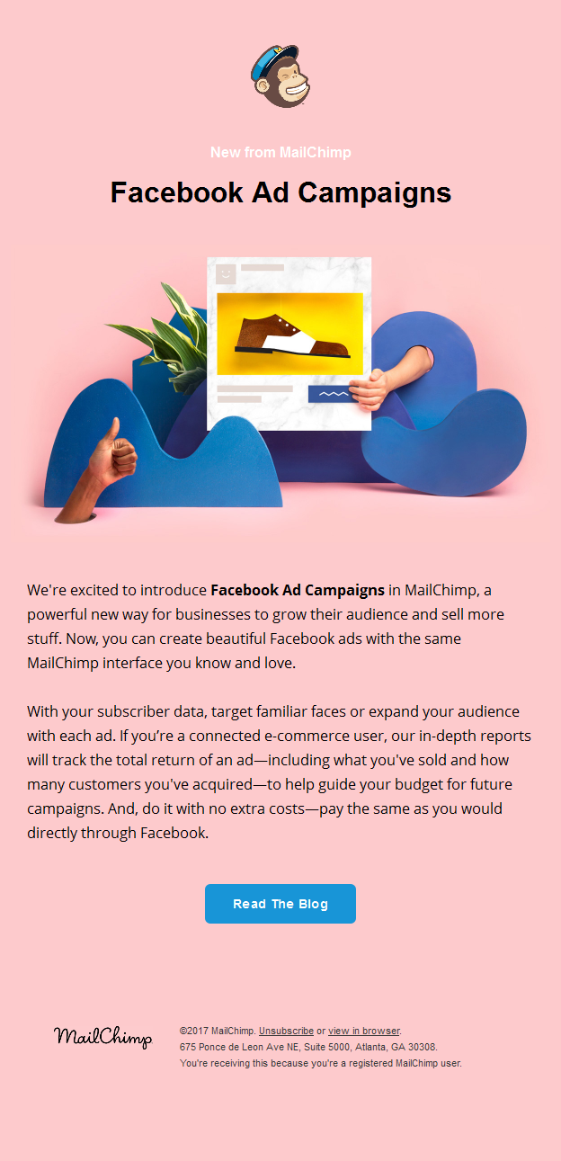 Facebook Ad Campaigns in MailChimp are Here