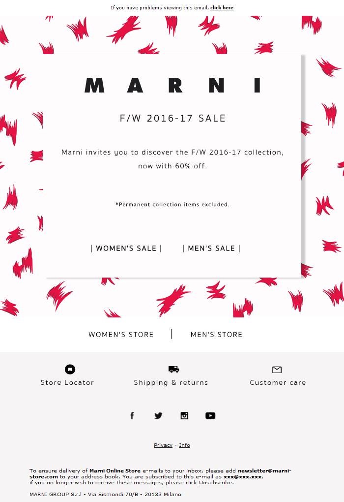Fall Winter 2016-17 Sale