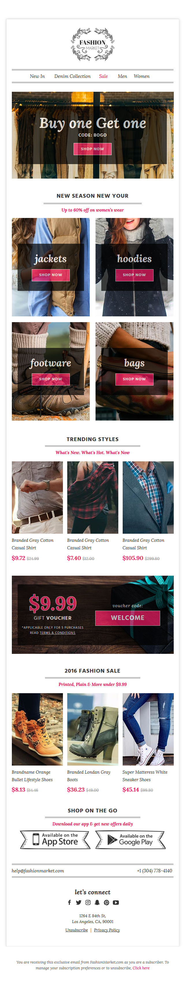 FashionMarket eCommerce Newsletter