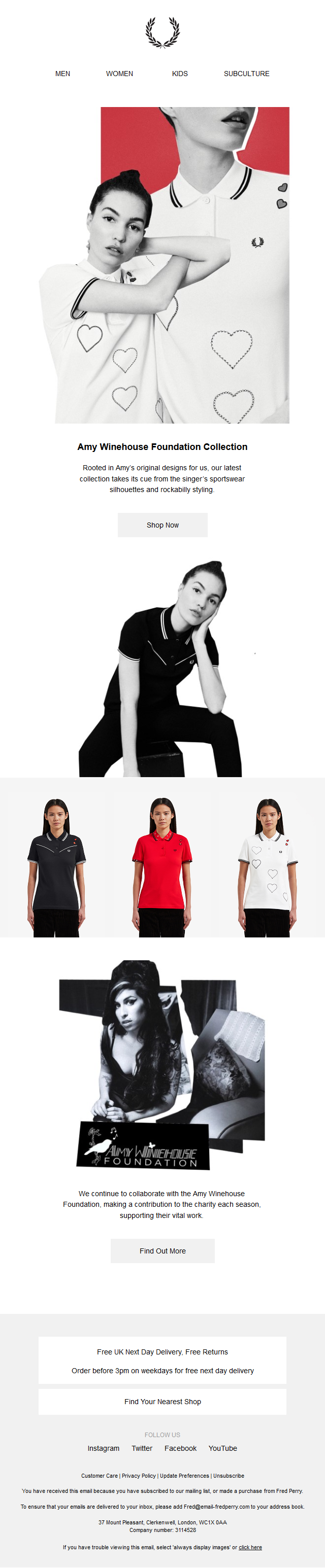 Fred Perry x Amy Winehouse Foundation Collection