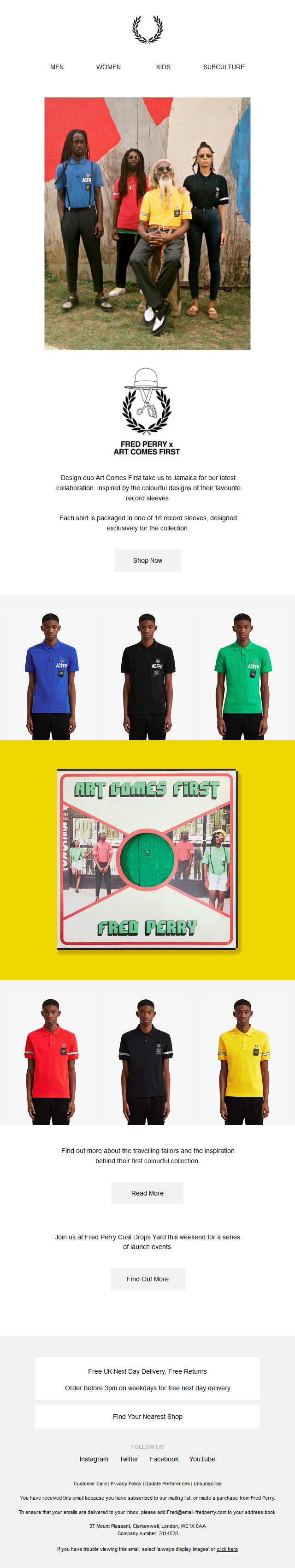 Fred Perry x Art Comes First – Out Now