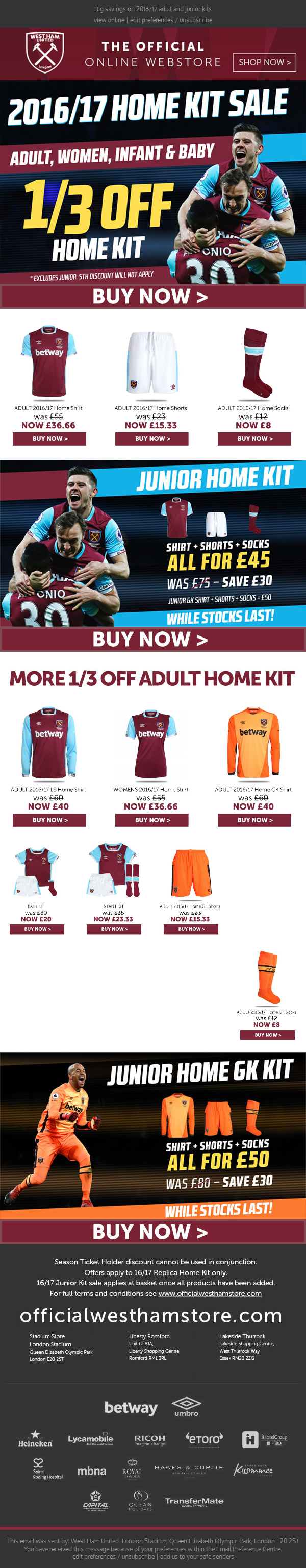 Get 1/3 off the Home kit!