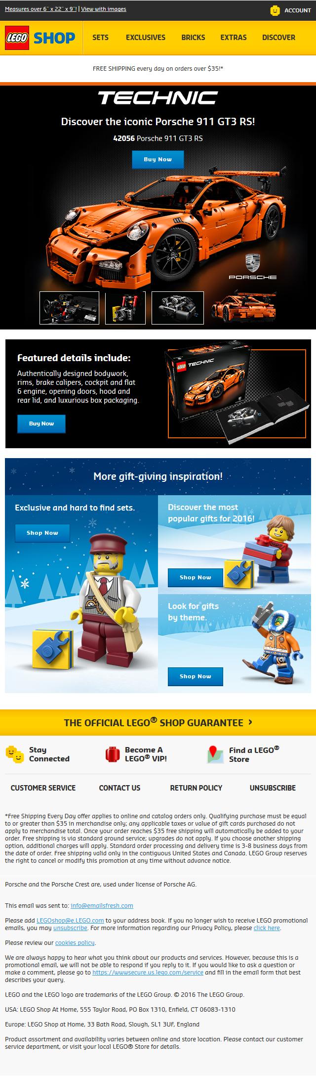 Get the LEGO® Technic Porsche; now in stock!