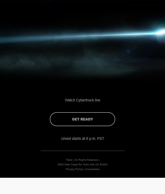 Get Ready — Livestream Cybertruck Unveil