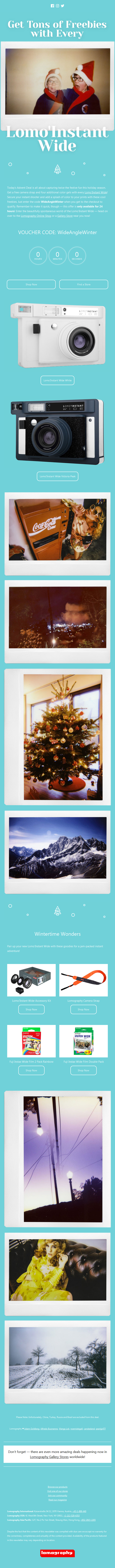 Get Tons of Freebies with Every Lomo'Instant Wide!