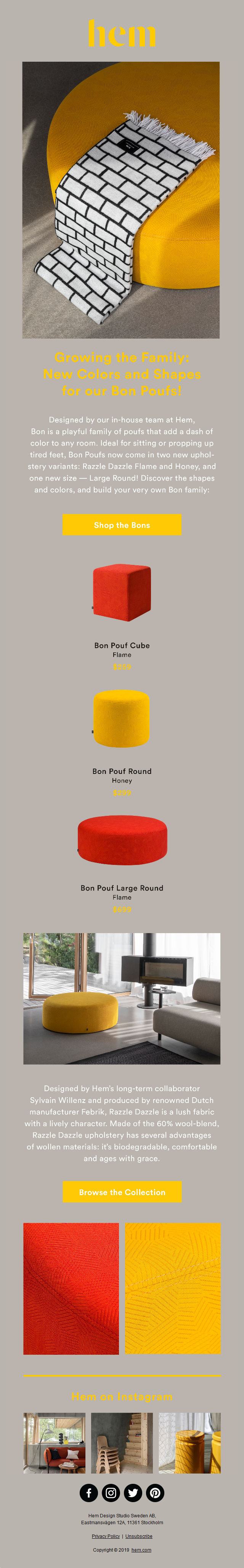 Growing the Family: New Colors and Shapes for our Bon Poufs!