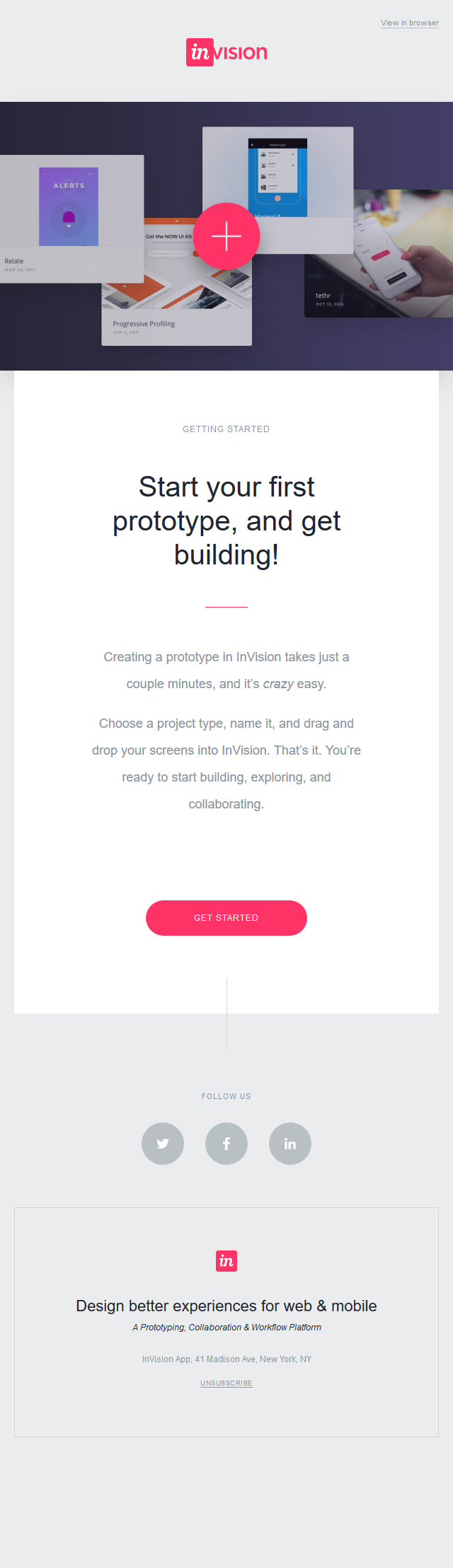 Hey MAX—start your first prototype, and get building!
