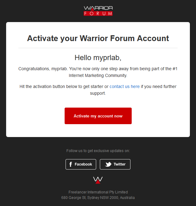 IMPORTANT! Confirm your Warrior Forum Account!