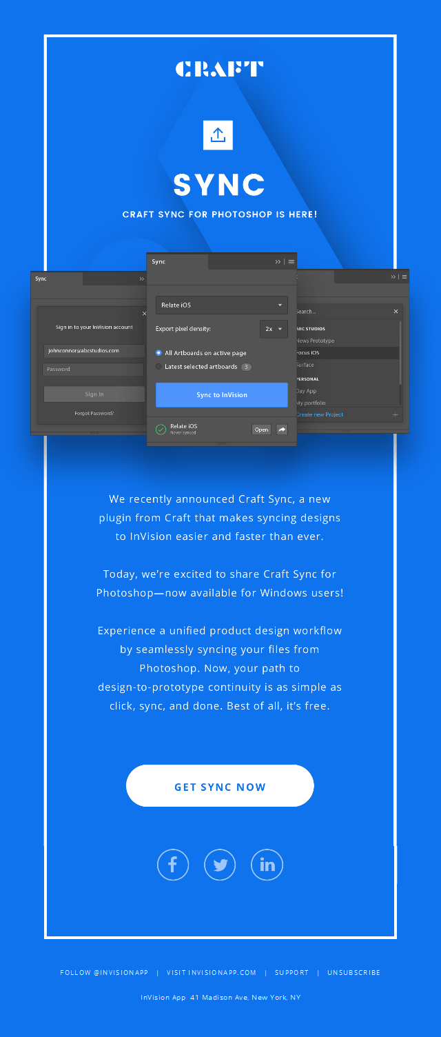 Introducing Craft Sync for Photoshop—A unified product design workflow with just 1 click