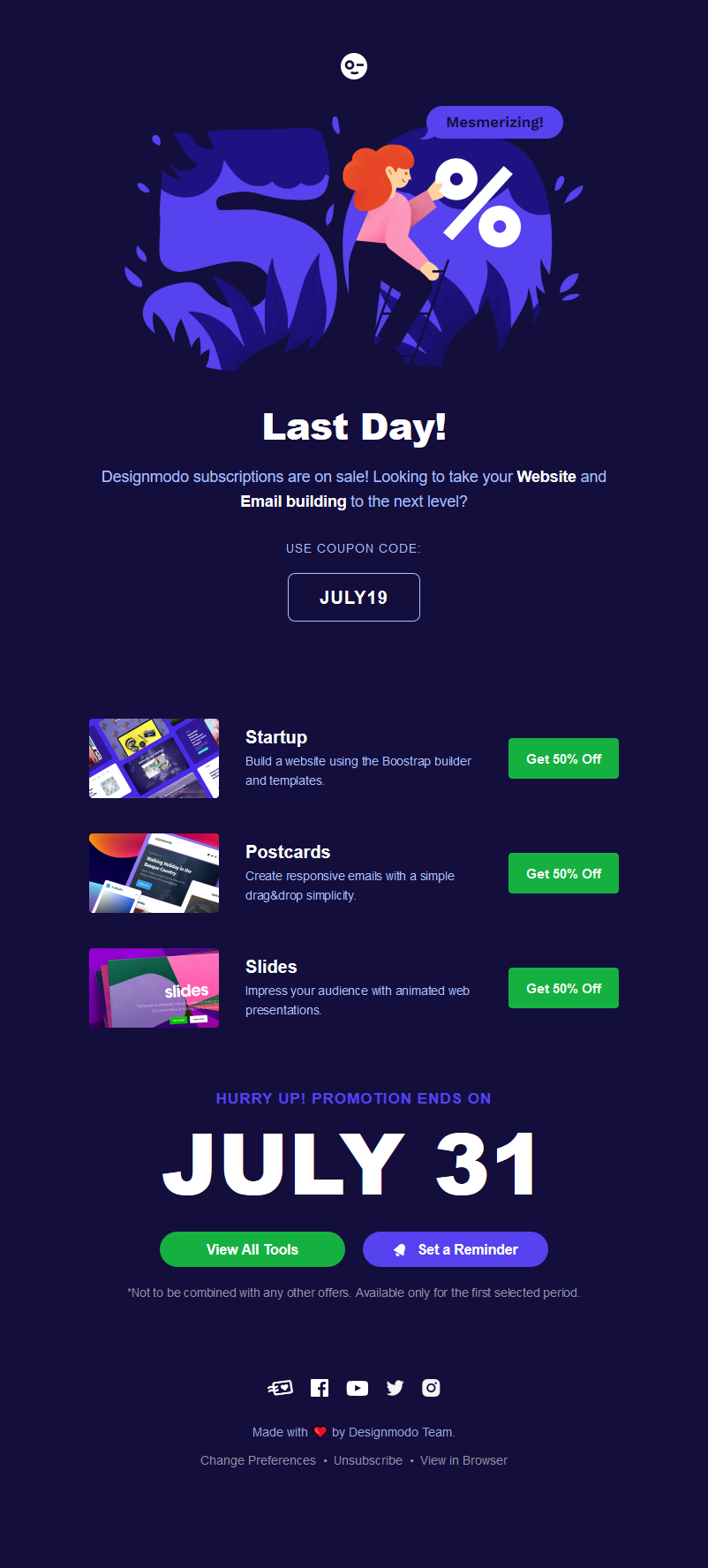 (LAST DAY) All Plans Discounted: Website & Email Builders! 50% OFF