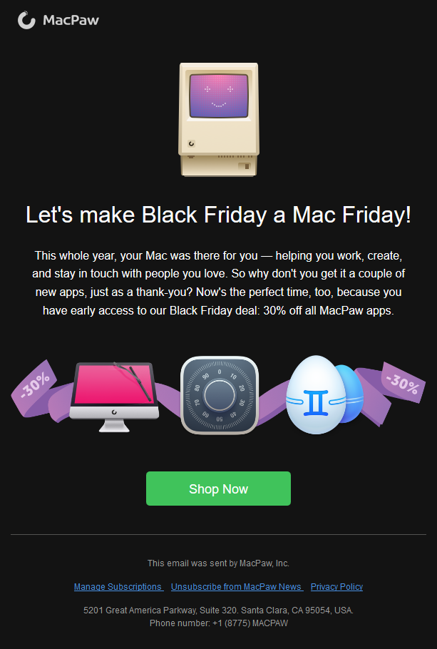 MacPaw - Your Black Friday deal is here early ?