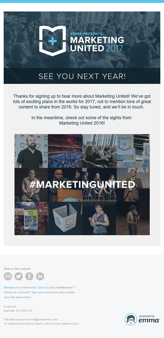Marketing United - You're on the list!