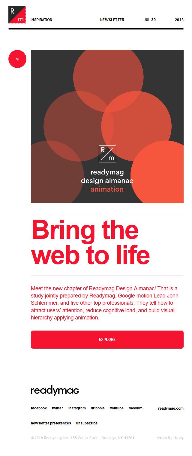 Master animation with Readymag Design Almanac