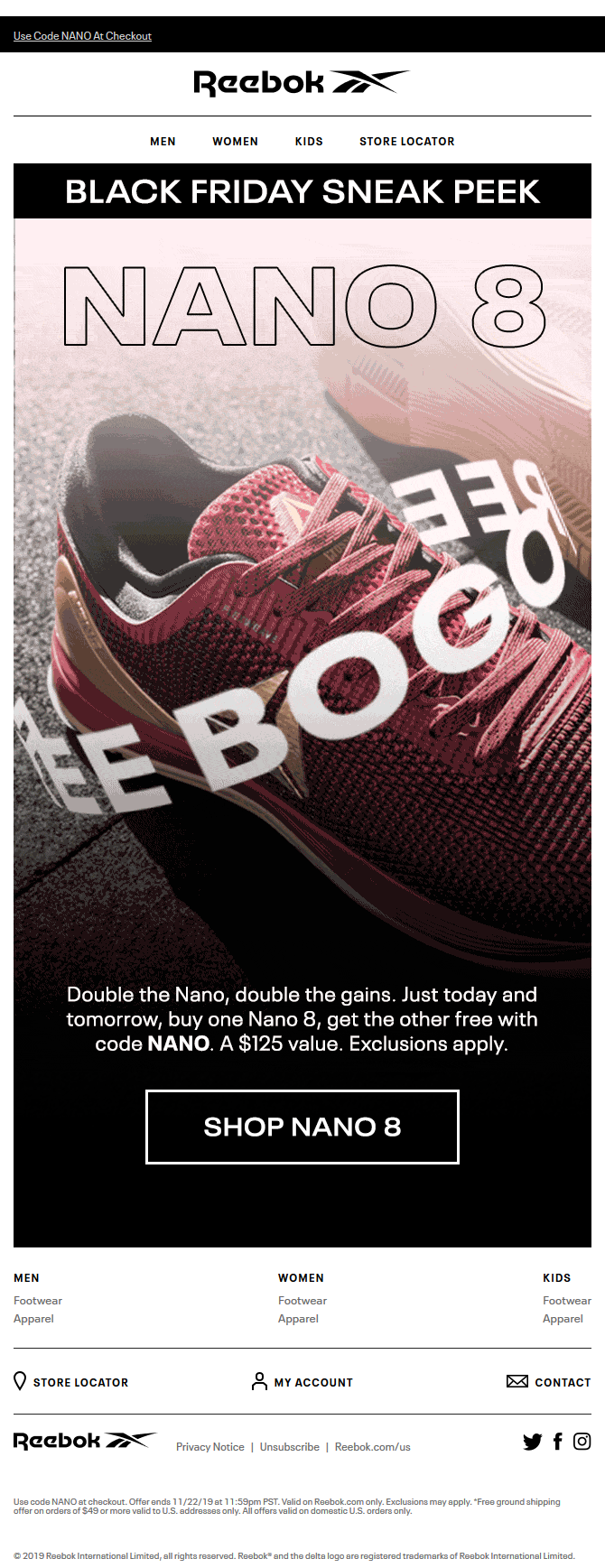 Nano 8 BOGO Free: Black Friday Sneak Peek
