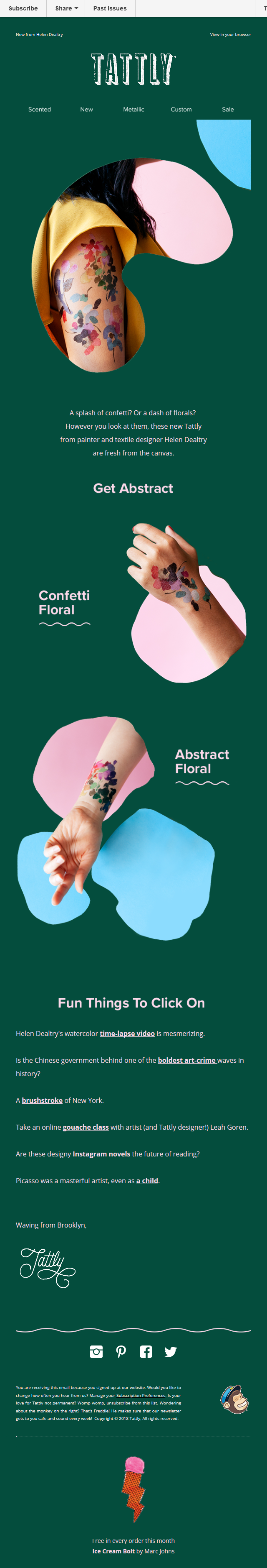 New Abstract Floral Set