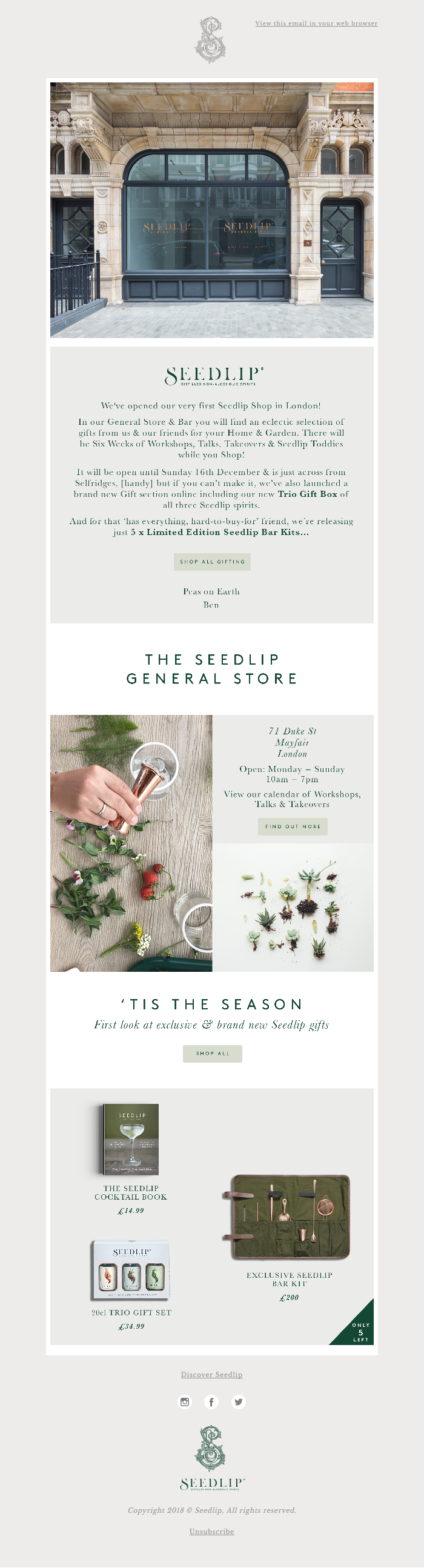 New Gifting & Seedlip Opens a Shop