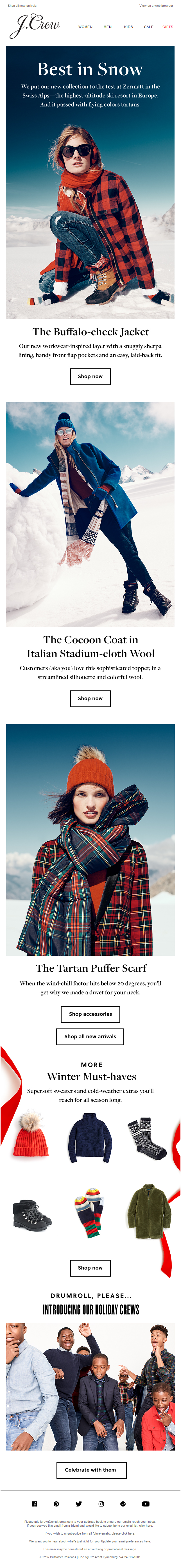 Our new winter collection hits the Swiss Alps
