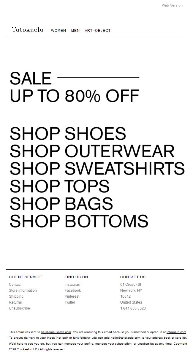 SALE: Shop shoes, outerwear, sweatshirts, & more