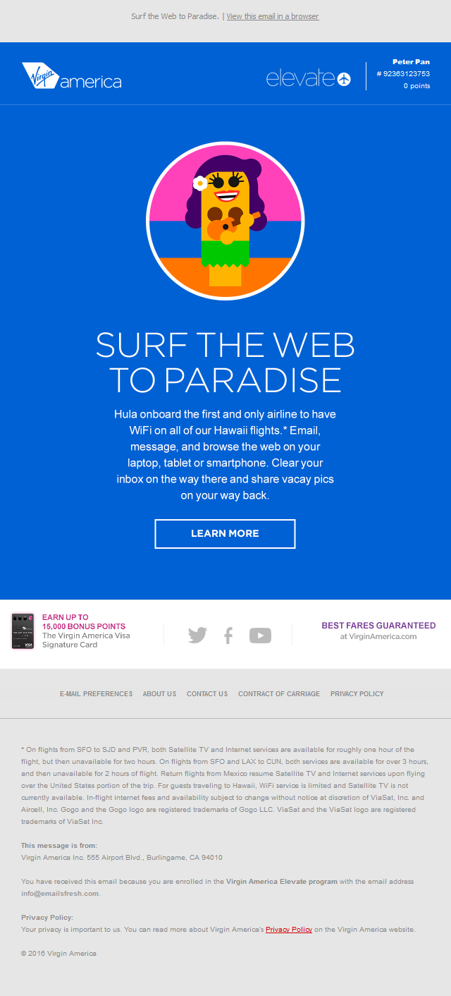 Surf The Web To Hawaii.