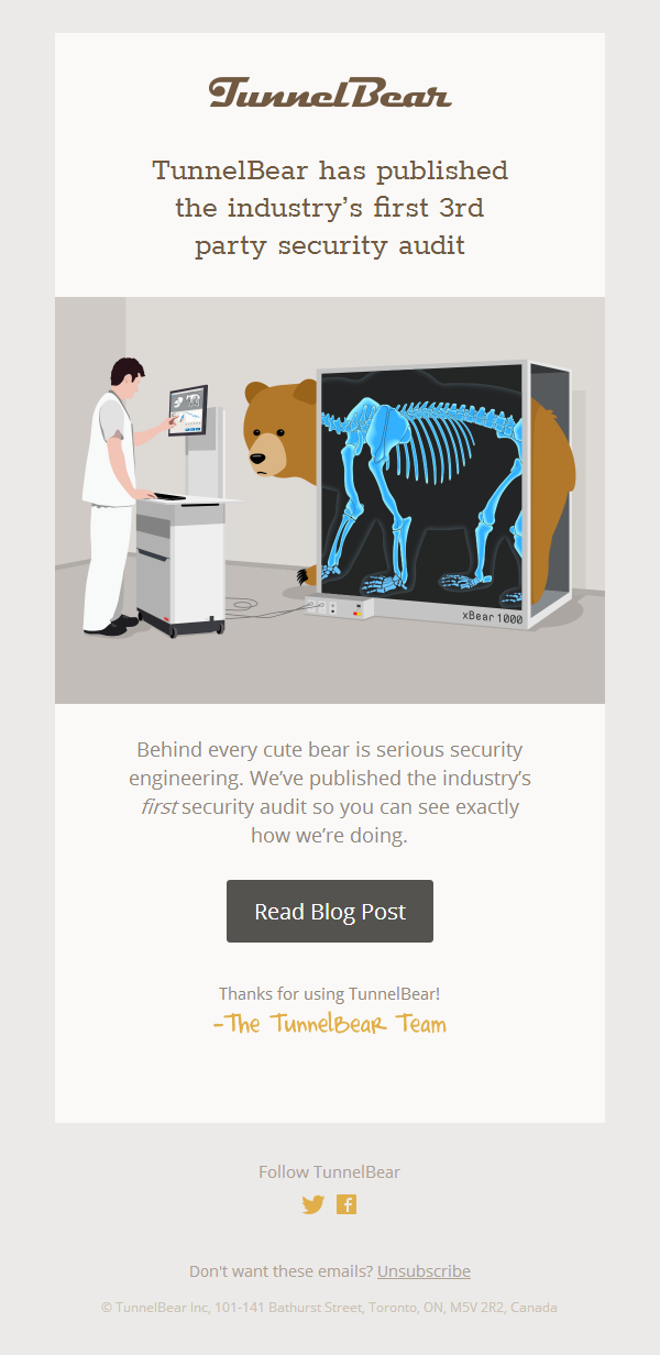 TunnelBear Publishes Security Audit