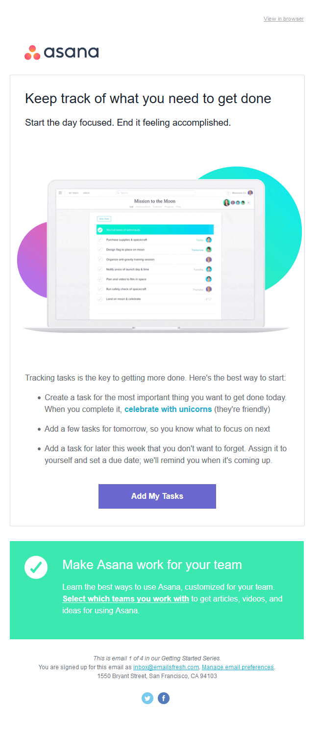 Welcome to Asana