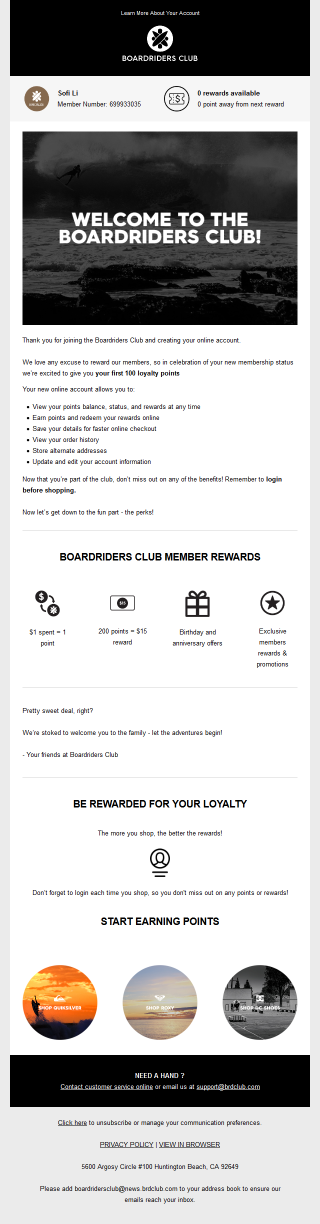 Welcome To The Boardriders Club By Quiksilver