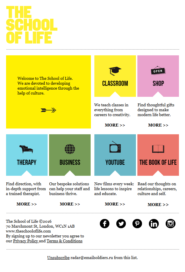 Welcome to The School of Life