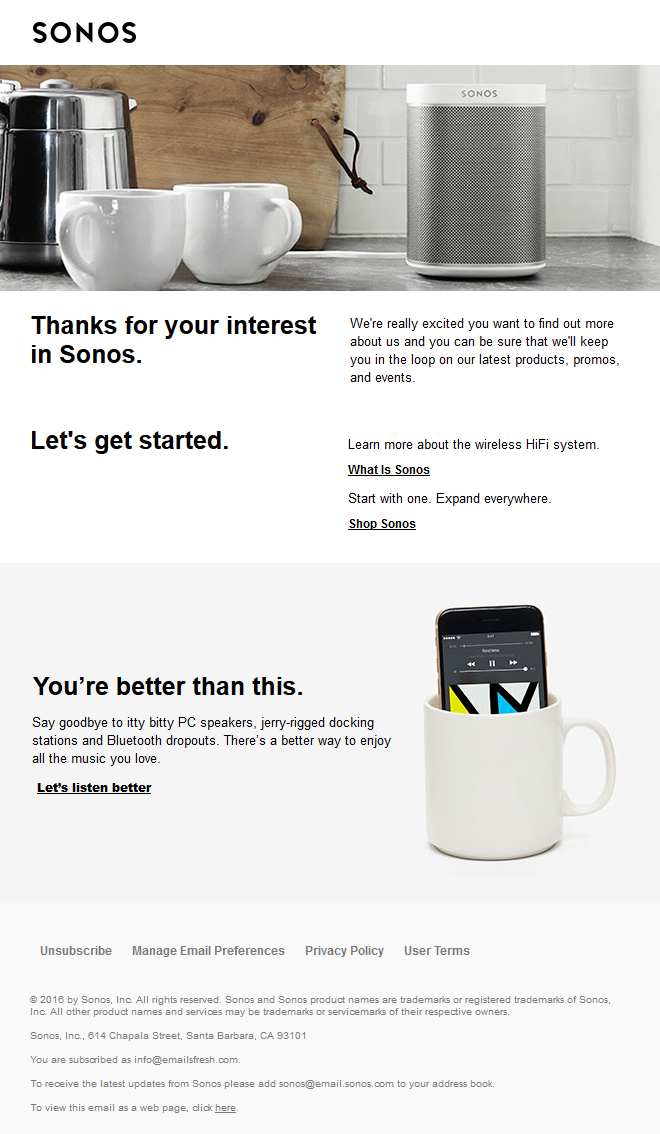 Welcome to Sonos
