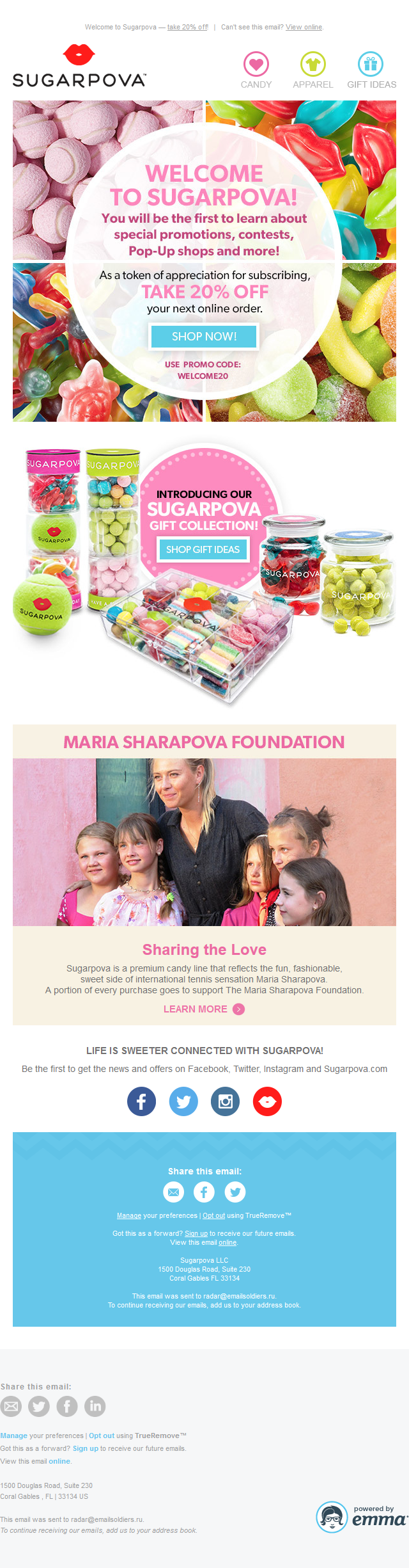 Welcome to Sugarpova! Special Offer Inside!