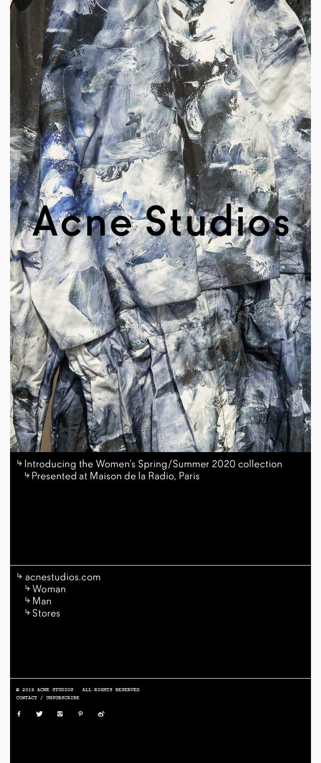 Women's Spring/Summer 2020 show
