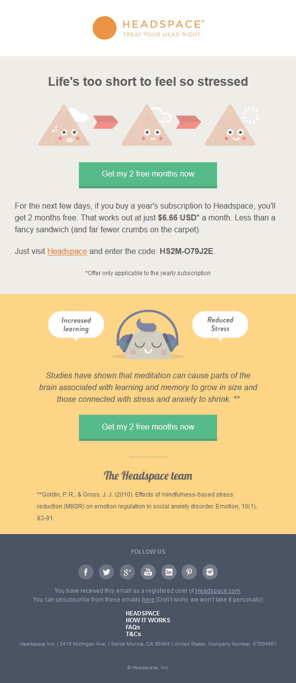 Worry less with 2 free months of Headspace