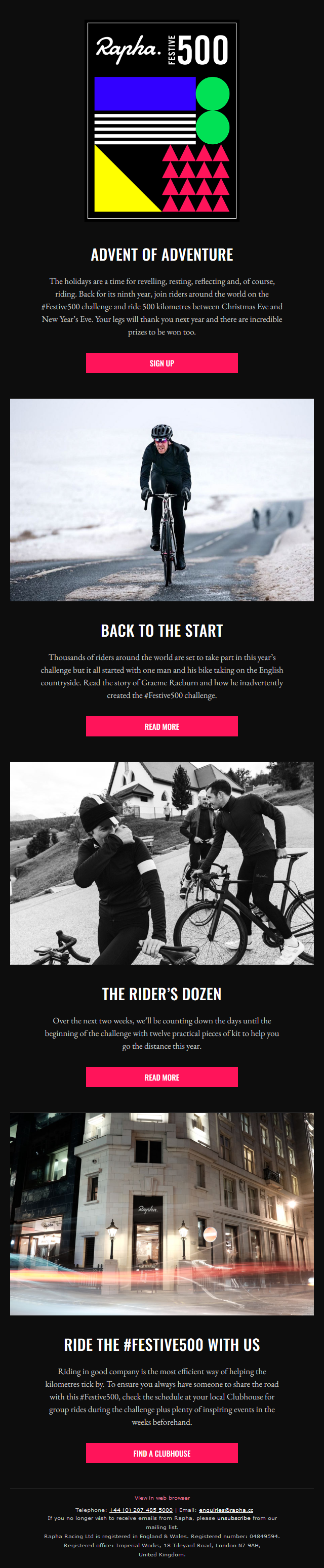 Wrap up, ride out. The #Festive500 is back