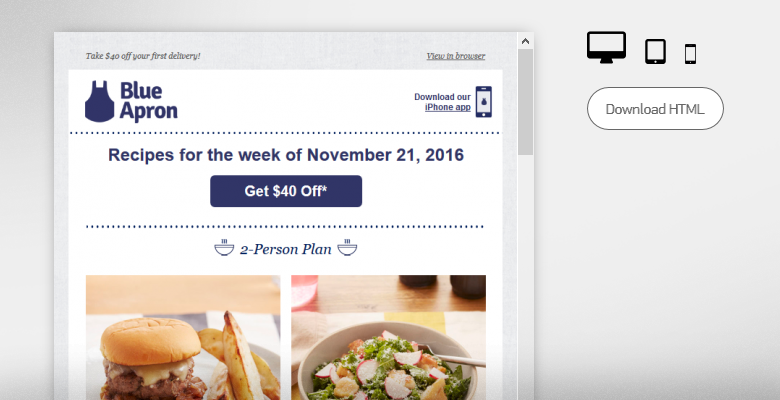 Blue Apron - $40 off + cheeseburgers = a mouthwatering deal for a