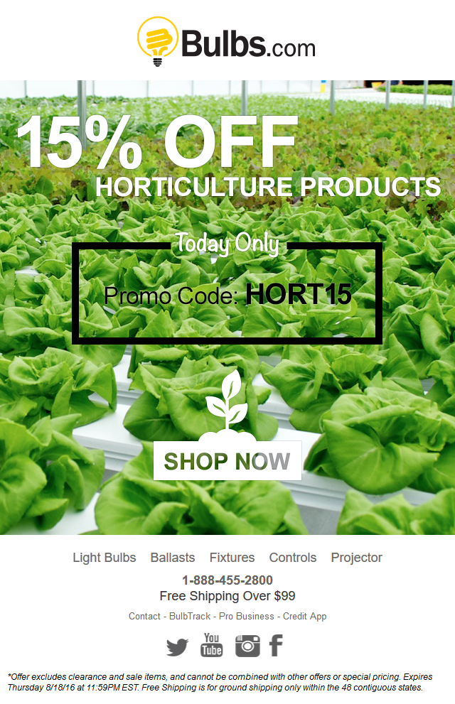Bulbs - 15% OFF Horticulture Products - One Day Sale