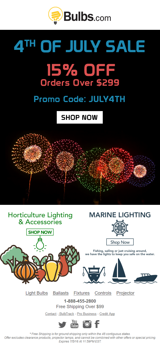 Bulbs - 4th Of July Sale - 15% OFF LEDs And More...