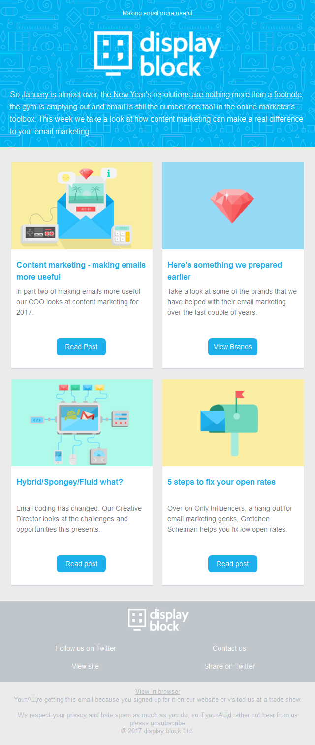 Content marketing and changes to responsive email