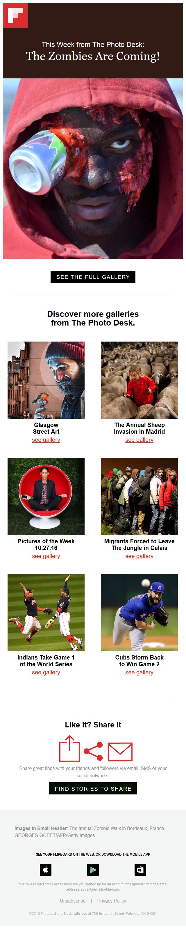 Flipboard - This Week in Photos: Zombie apocalypse is here