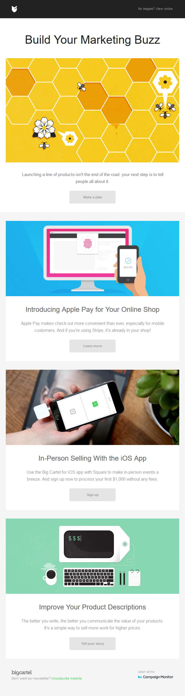 Improve your marketing, sell with Apple Pay, and more