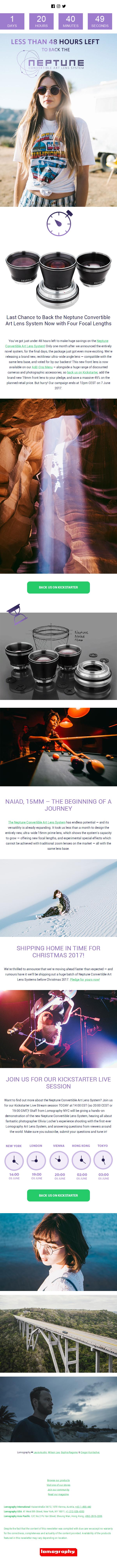 Less than 48 Hours Left to Back the Neptune Convertible Art Lens System on Kickstarter!