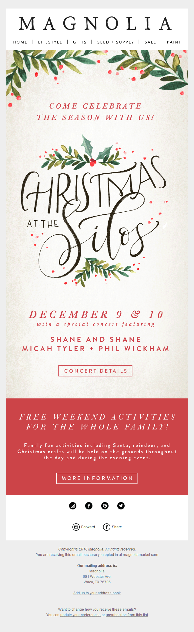 Magnolia Market - Join us for our first Christmas at the Silos!